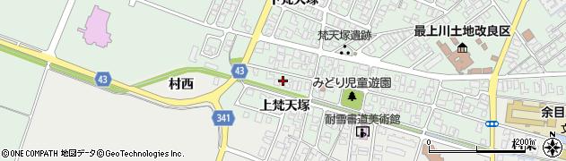 山形県東田川郡庄内町余目梵天塚171周辺の地図