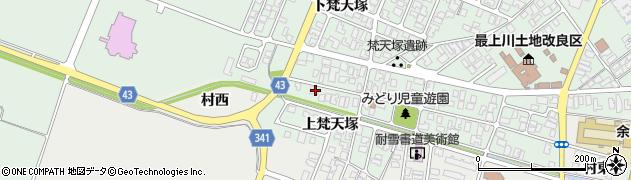 山形県東田川郡庄内町余目梵天塚173周辺の地図