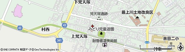 山形県東田川郡庄内町余目梵天塚127周辺の地図