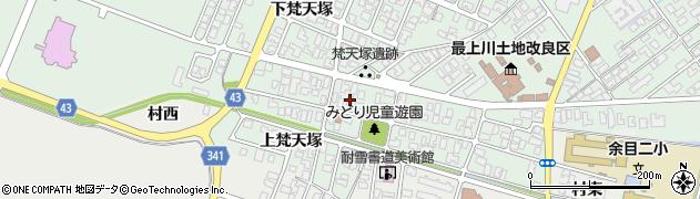 山形県東田川郡庄内町余目梵天塚122周辺の地図