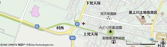 山形県東田川郡庄内町余目梵天塚175周辺の地図