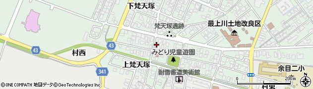 山形県東田川郡庄内町余目梵天塚128周辺の地図