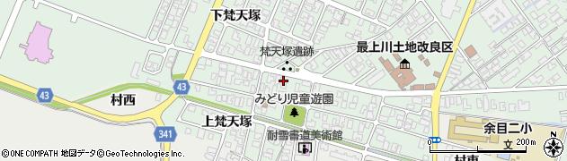 山形県東田川郡庄内町余目梵天塚118周辺の地図