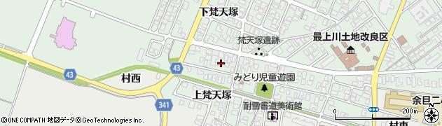 山形県東田川郡庄内町余目梵天塚148周辺の地図