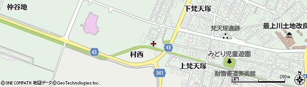 山形県東田川郡庄内町余目仲谷地43周辺の地図