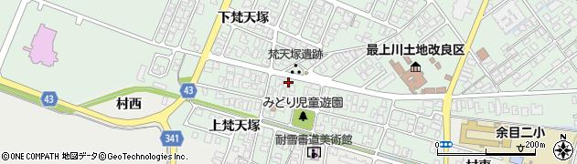 山形県東田川郡庄内町余目梵天塚123周辺の地図