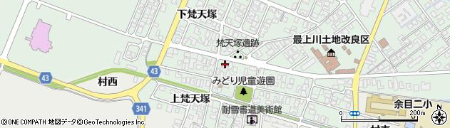 山形県東田川郡庄内町余目梵天塚126周辺の地図