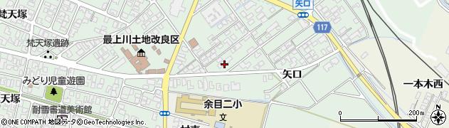 山形県東田川郡庄内町余目矢口105周辺の地図