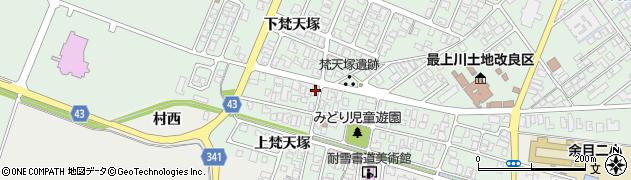 山形県東田川郡庄内町余目梵天塚139周辺の地図