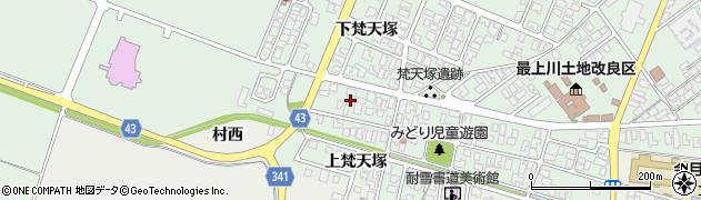 山形県東田川郡庄内町余目梵天塚154周辺の地図