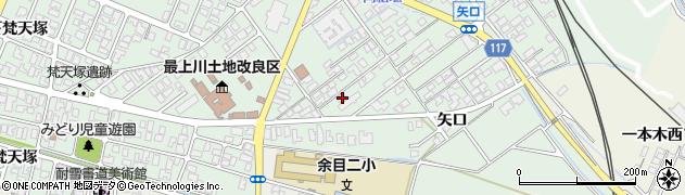 山形県東田川郡庄内町余目矢口104-3周辺の地図