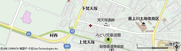 山形県東田川郡庄内町余目梵天塚147周辺の地図