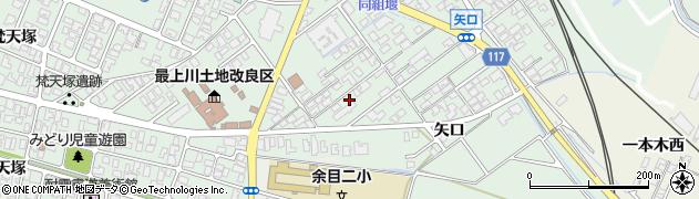山形県東田川郡庄内町余目矢口104周辺の地図