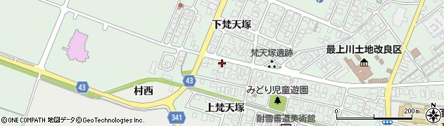山形県東田川郡庄内町余目梵天塚152周辺の地図