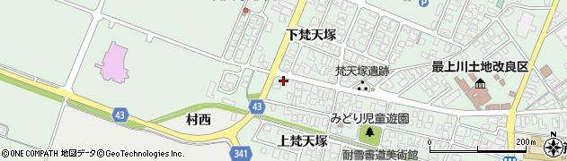 山形県東田川郡庄内町余目梵天塚158周辺の地図