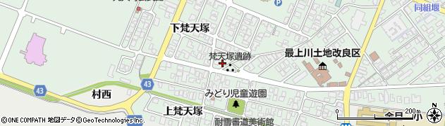 山形県東田川郡庄内町余目下梵天塚17周辺の地図