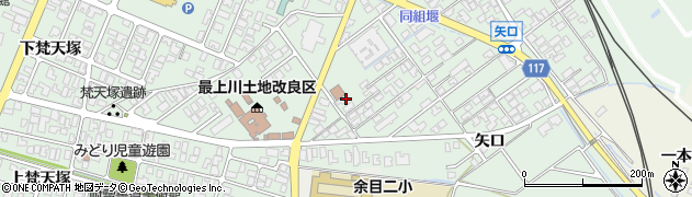 山形県東田川郡庄内町余目矢口101周辺の地図