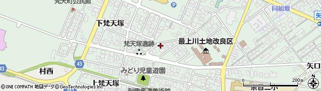 山形県東田川郡庄内町余目上梵天塚27周辺の地図