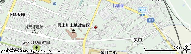 山形県東田川郡庄内町余目矢口100周辺の地図