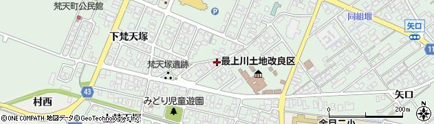 山形県東田川郡庄内町余目上梵天塚20周辺の地図