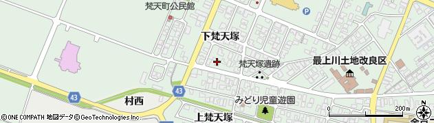 山形県東田川郡庄内町余目下梵天塚2周辺の地図