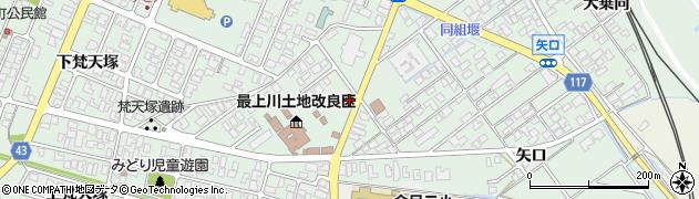 山形県東田川郡庄内町余目上梵天塚11周辺の地図