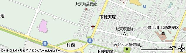山形県東田川郡庄内町余目下梵天塚85周辺の地図