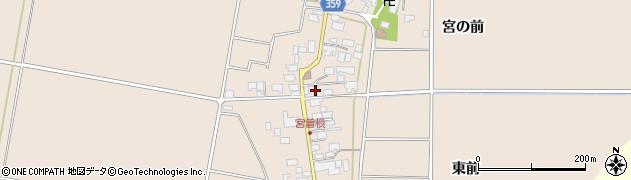 山形県東田川郡庄内町宮曽根宮の前周辺の地図