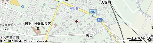 山形県東田川郡庄内町余目矢口78周辺の地図
