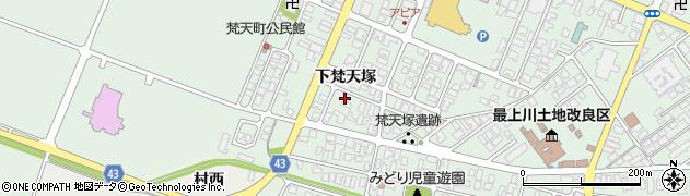 山形県東田川郡庄内町余目下梵天塚3周辺の地図