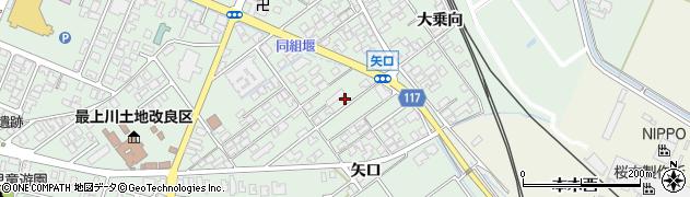 山形県東田川郡庄内町余目矢口周辺の地図