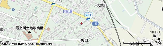 山形県東田川郡庄内町余目矢口71-3周辺の地図