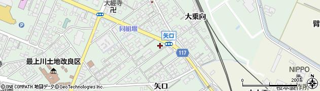 山形県東田川郡庄内町余目矢口71-6周辺の地図