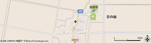 山形県東田川郡庄内町宮曽根宮の前58周辺の地図