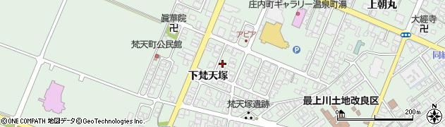 山形県東田川郡庄内町余目下梵天塚39周辺の地図