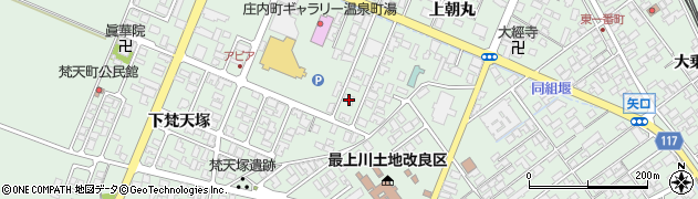 山形県東田川郡庄内町余目上朝丸80周辺の地図