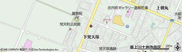 山形県東田川郡庄内町余目下梵天塚42周辺の地図