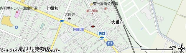 山形県東田川郡庄内町余目上朝丸12周辺の地図