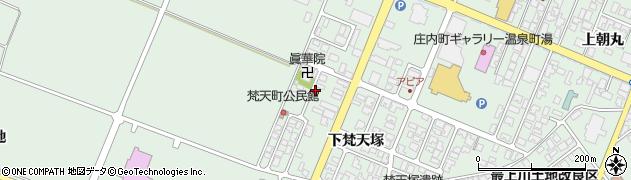 山形県東田川郡庄内町余目下梵天塚52周辺の地図