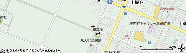 山形県東田川郡庄内町余目梵天町周辺の地図