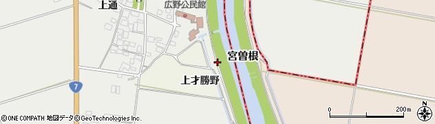 山形県酒田市福岡九番割周辺の地図