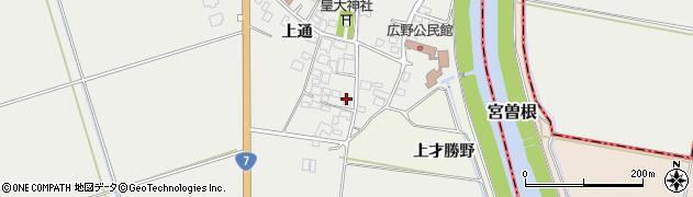 山形県酒田市広野上通89周辺の地図