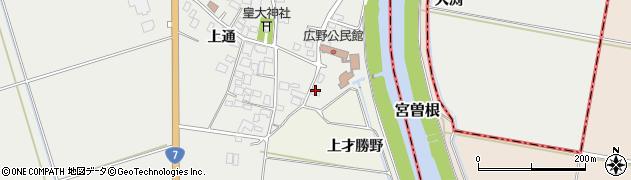 山形県酒田市広野上通40周辺の地図