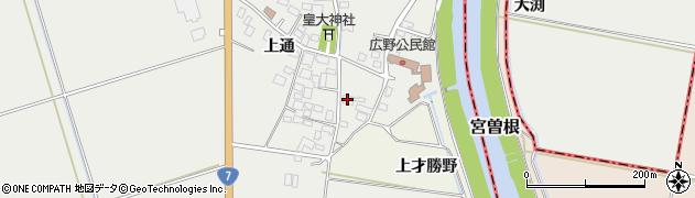 山形県酒田市広野上通45周辺の地図