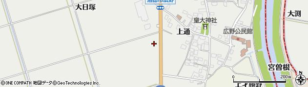 山形県酒田市広野土橋周辺の地図
