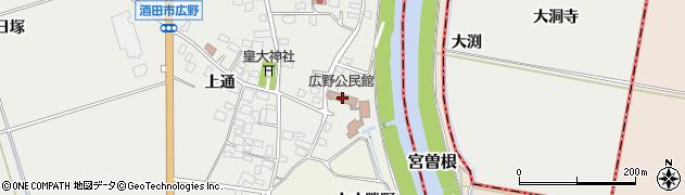 山形県酒田市広野上通232周辺の地図