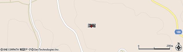 岩手県一関市藤沢町黄海(深堀)周辺の地図