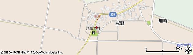 山形県東田川郡庄内町杉浦杉野4周辺の地図