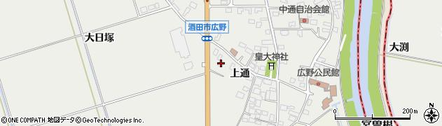 山形県酒田市広野上通121周辺の地図