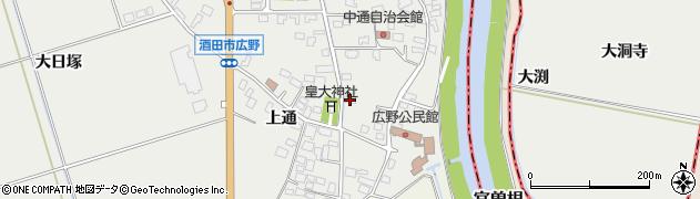 山形県酒田市広野上通15周辺の地図